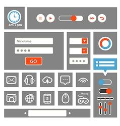 Web interface template vector