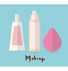 Womens make up and cosmetics vector image vector image