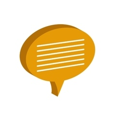 Bubble communication message speak icon vector