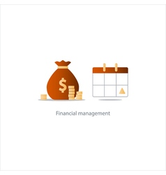 Pay day monthly payment calendar time period icon vector