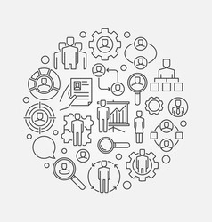 Human resources outline vector