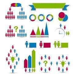 Set human infographic design elements vector image