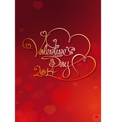 Valentines Card Valentines Day 2014 Red vector image