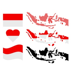 Map of indonesia vector
