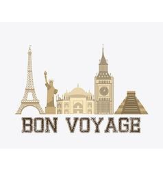 bon boyage vector image
