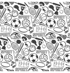 Sport pattern with vintage badges and labels vector image
