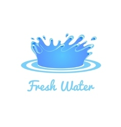 Fresh water splash set vector