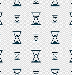 Hourglass icon sign seamless pattern with vector