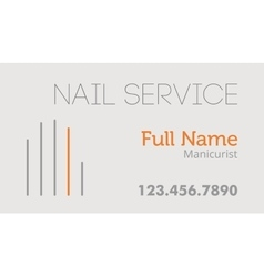 Nail service business card vector