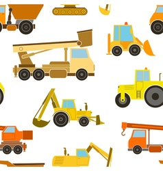 Seamless pattern construction machines vector