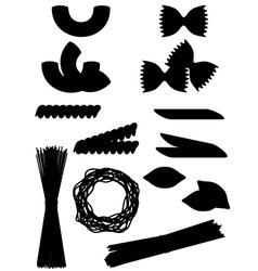 pasta 10 vector image
