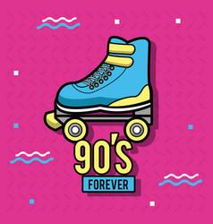 90s forever design vector image