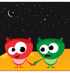love in space vector image