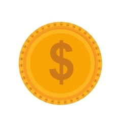 Coin icon money and financial item design vector