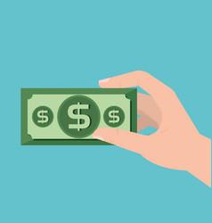 Bills dollars money icon vector