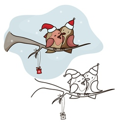 Bird christmas vector