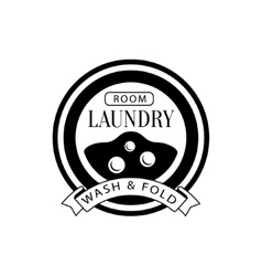 Black and white sign for the laundry and dry vector