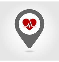 Blood pressure map pin icon vector
