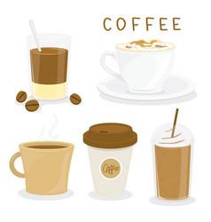 coffee cup breakfast cartoon vector image vector image