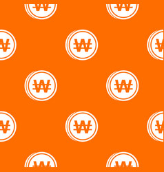 Coins wont pattern seamless vector