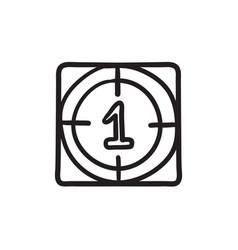 Countdown sketch icon vector