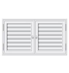 Door shutters on isolate background vector
