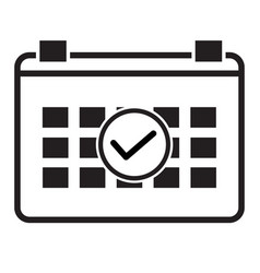 event schedule icon on white background event vector image
