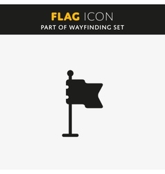 Flag icon check mark vector