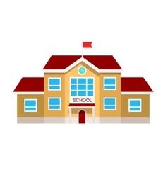 Flat of school building vector