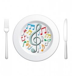 food is music vector image vector image