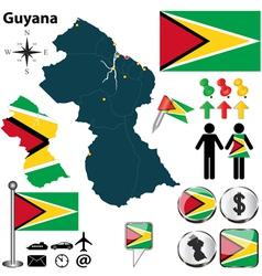 Guyana map vector image