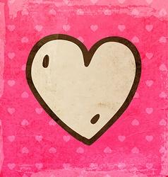 Hand drawn love heart vector