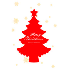 happy new year design with christmas tree on vector image