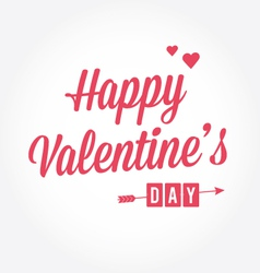 Happy Valentines day card type text vector image vector image