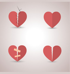 icons heart vector image