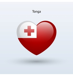 Love Tonga symbol Heart flag icon vector image vector image