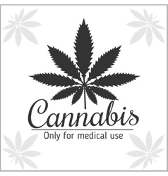 Marijuana logo - cannabis for medical use vector
