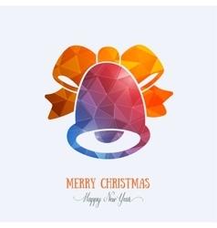 Merry Christmas card creative decoration Happy vector image