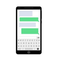 messenger app smartphone vector image