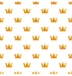 milady crown pattern seamless vector image