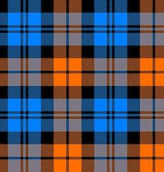 Orange and blue tartan seamless pattern vector