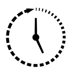 Passage of time icon clock missing time vector