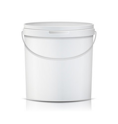 realistic bucket template bucket container vector image vector image