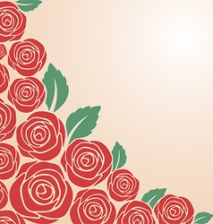 Red rose bush vector image vector image
