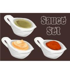 Sauce set vector image vector image
