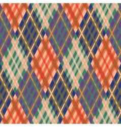 Seamless tartan pattern Diagonal fall palette vector image