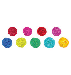 Set of fun colorful birthday party paper vector