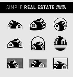 simple real estate logo mega pack vector image