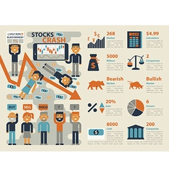 Stocks Crash vector image