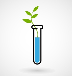 Test tube with sprout vector image vector image